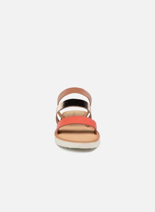 Mules et sabots Vero Moda Way Leather Sandal Marron vue portées chaussures