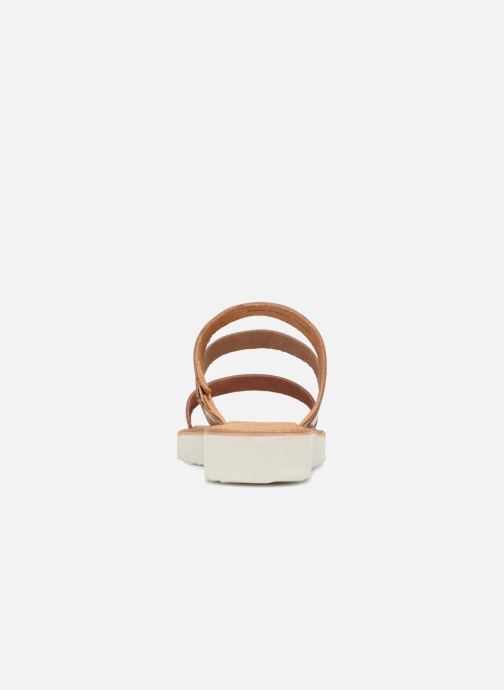 Zuecos Vero Moda Way Leather Sandal Marrón vista lateral derecha