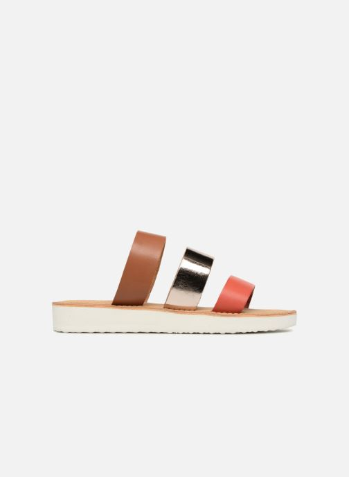 Zuecos Vero Moda Way Leather Sandal Marrón vistra trasera