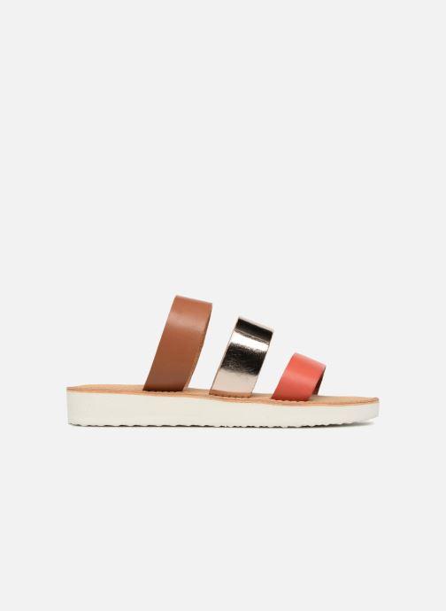 Zuecos Vero Moda Way Leather Sandal Marrón vistra trasera