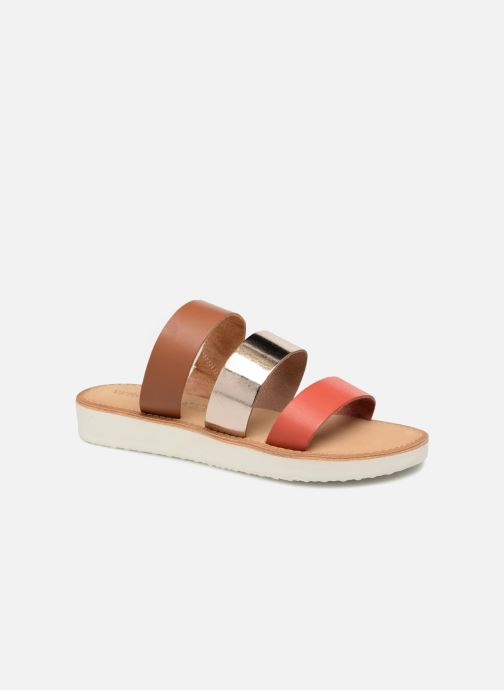 Zuecos Vero Moda Way Leather Sandal Marrón vista de detalle / par
