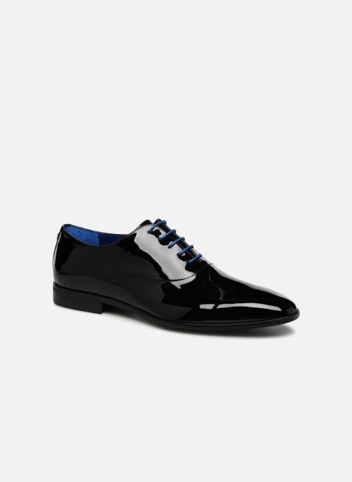 Snøresko Azzaro ROSINO Sort detaljeret billede af skoene