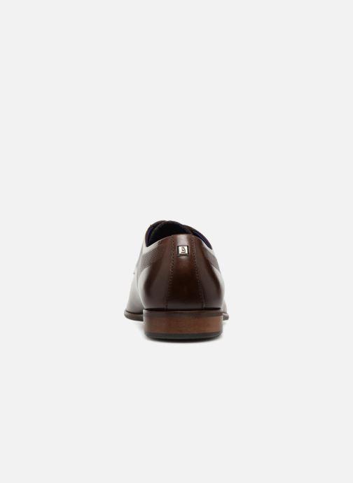 Zapatos con cordones Azzaro JUDIC Marrón vista lateral derecha