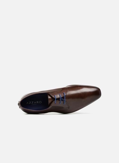 Zapatos con cordones Azzaro JUDIC Marrón vista lateral izquierda