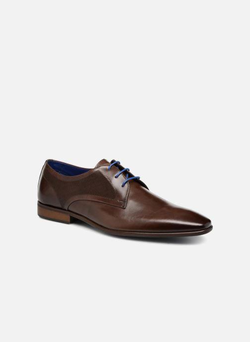 Snøresko Azzaro JUDIC Brun detaljeret billede af skoene