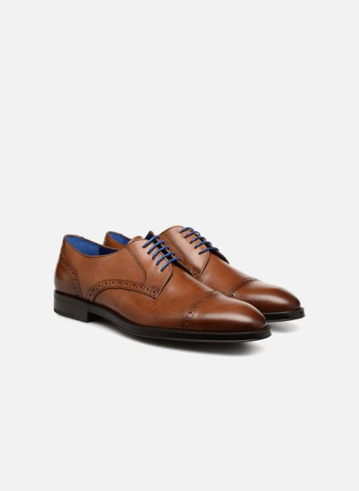 Lace-up shoes Azzaro SAGNIER Brown 3/4 view