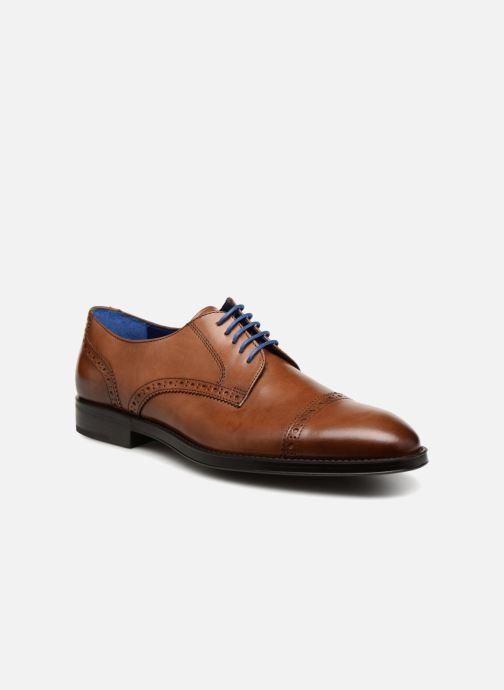Snøresko Azzaro SAGNIER Brun detaljeret billede af skoene