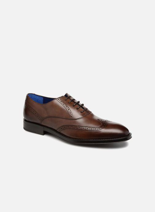 Snøresko Azzaro SALVADOR Brun detaljeret billede af skoene