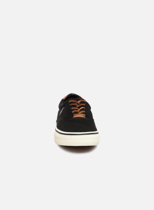 Baskets Polo Ralph Lauren Thorton Canvas Noir vue portées chaussures