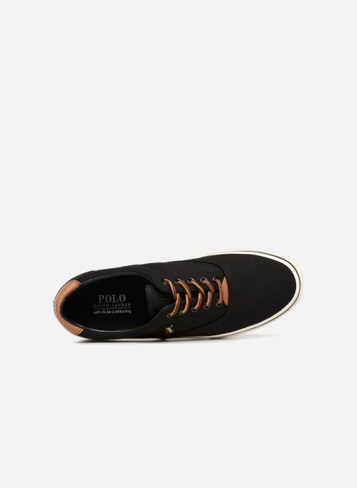 Trainers Polo Ralph Lauren Thorton Canvas Black view from the left