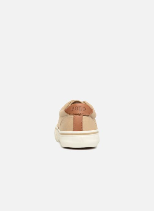 Baskets Polo Ralph Lauren Thorton Canvas Beige vue droite