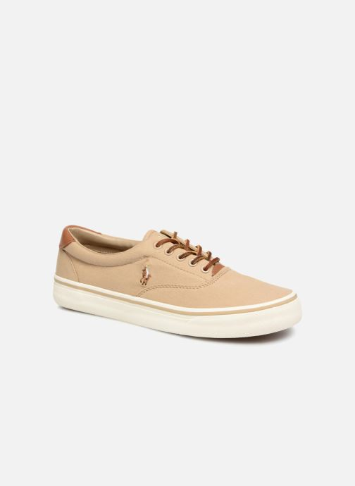 Baskets Polo Ralph Lauren Thorton Canvas Beige vue détail/paire