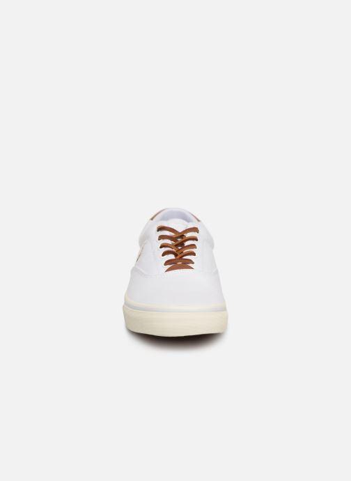 Baskets Polo Ralph Lauren Thorton Canvas Blanc vue portées chaussures