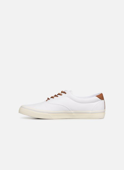 Baskets Polo Ralph Lauren Thorton Canvas Blanc vue face