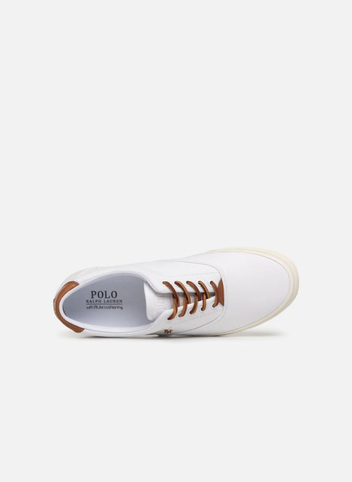 Baskets Polo Ralph Lauren Thorton Canvas Blanc vue gauche