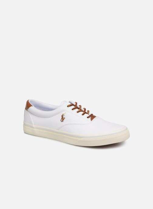 Baskets Polo Ralph Lauren Thorton Canvas Blanc vue détail/paire