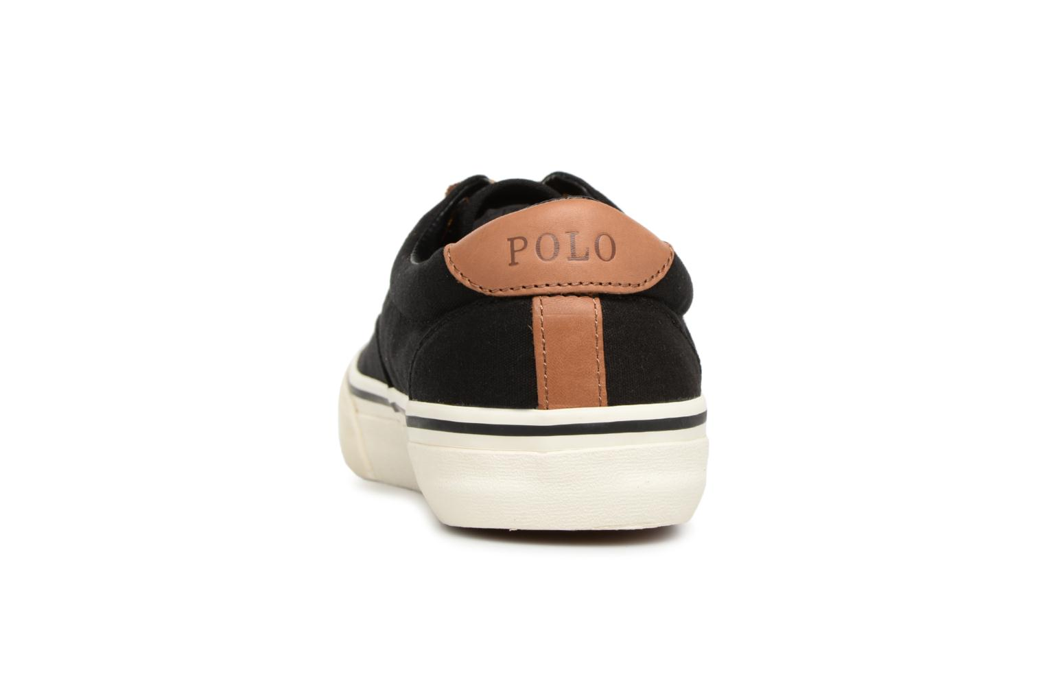 Baskets Polo Ralph Lauren Thorton Canvas Noir vue droite