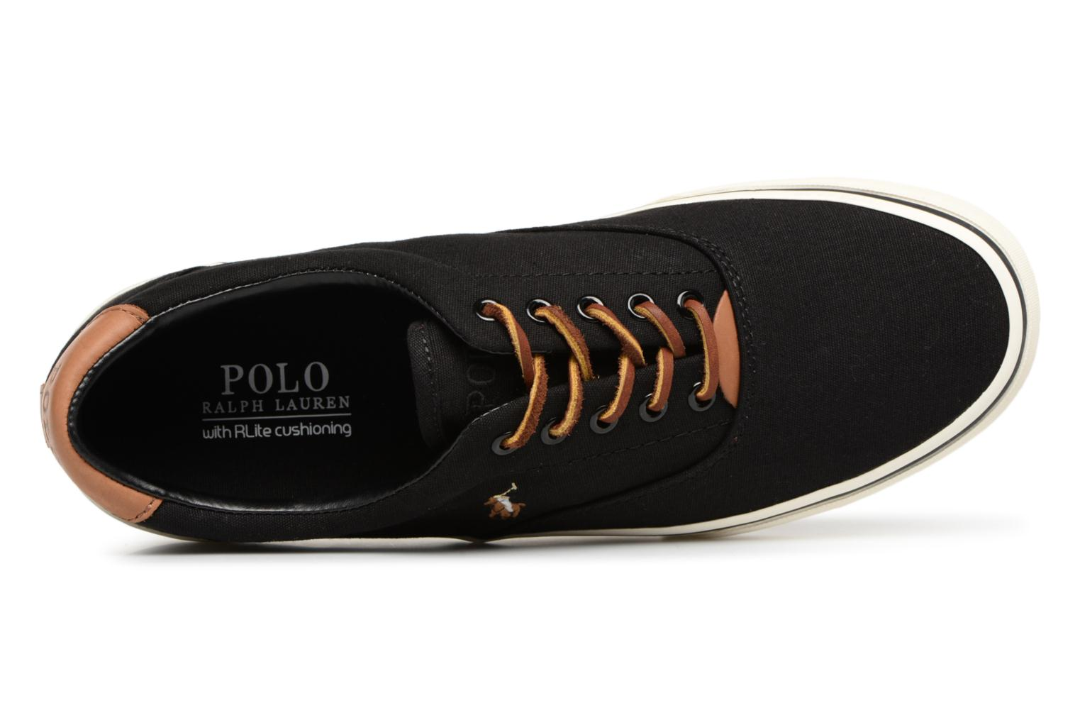 Baskets Polo Ralph Lauren Thorton Canvas Noir vue gauche