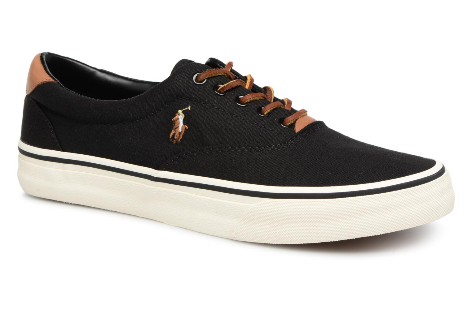 Baskets Polo Ralph Lauren Thorton Canvas Noir vue détail/paire