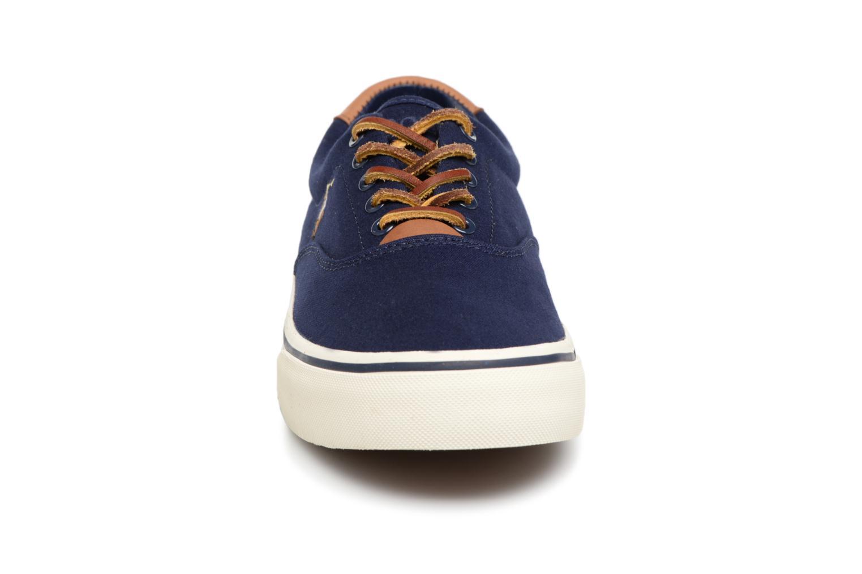 Baskets Polo Ralph Lauren Thorton Canvas Bleu vue portées chaussures