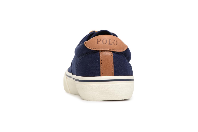 Baskets Polo Ralph Lauren Thorton Canvas Bleu vue droite