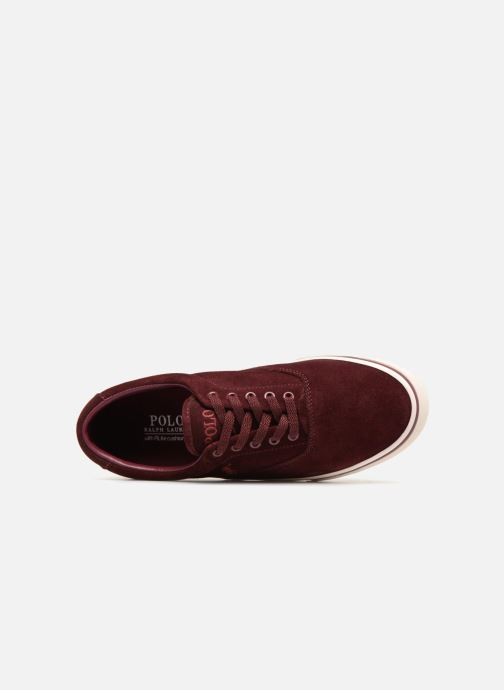 Trainers Polo Ralph Lauren Thorton Suede Burgundy view from the left