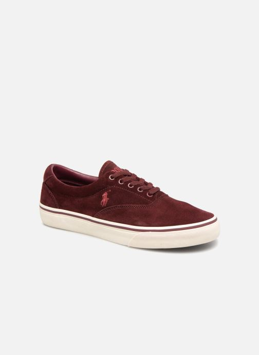 Baskets Polo Ralph Lauren Thorton Suede Bordeaux vue détail/paire