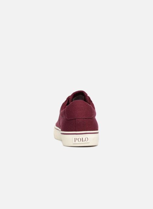 Trainers Polo Ralph Lauren Sayer Canvas Burgundy view from the right