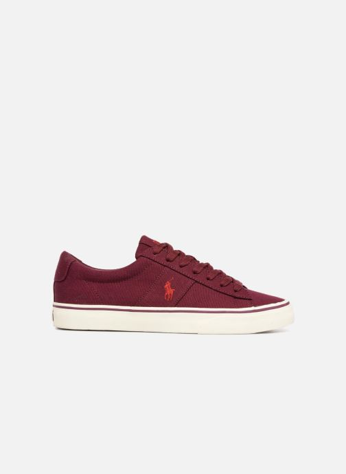 Trainers Polo Ralph Lauren Sayer Canvas Burgundy back view