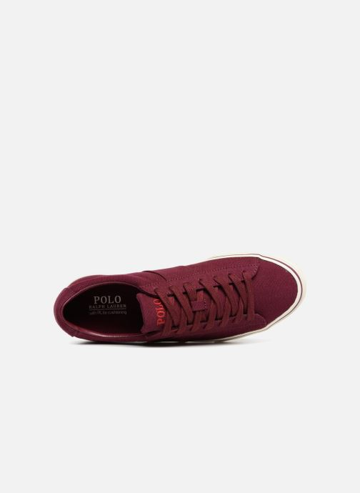 Baskets Polo Ralph Lauren Sayer Canvas Bordeaux vue gauche