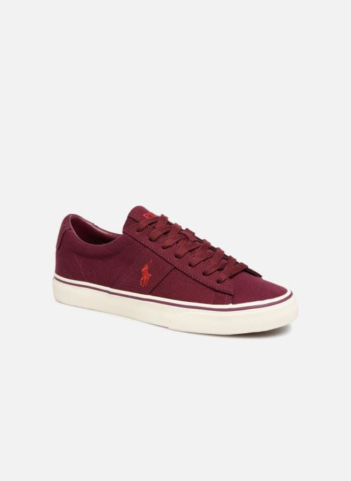 Baskets Polo Ralph Lauren Sayer Canvas Bordeaux vue détail/paire