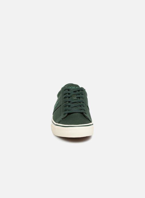 Baskets Polo Ralph Lauren Sayer Canvas Vert vue portées chaussures