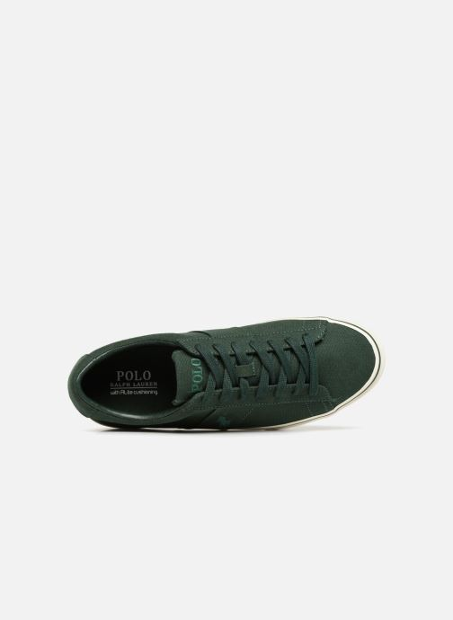 Baskets Polo Ralph Lauren Sayer Canvas Vert vue gauche