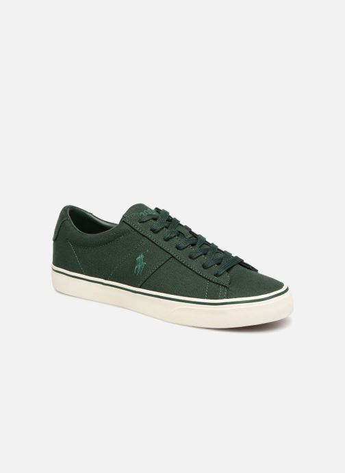 Baskets Polo Ralph Lauren Sayer Canvas Vert vue détail/paire
