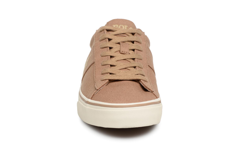 Baskets Polo Ralph Lauren Sayer Canvas Beige vue portées chaussures