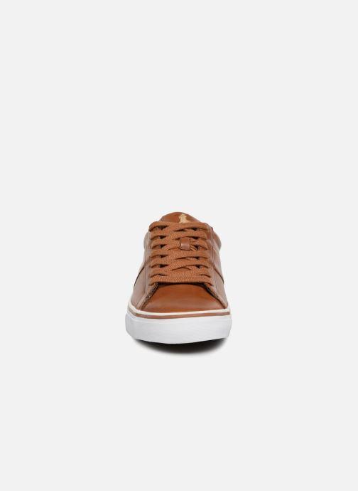 Baskets Polo Ralph Lauren Sayer Cuir Marron vue portées chaussures