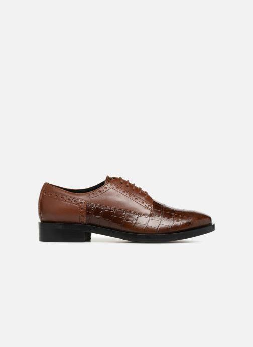 Zapatos con cordones Geox D DONNA BROGUE B D842UB Marrón vistra trasera