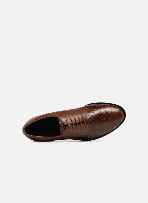 Zapatos con cordones Geox D DONNA BROGUE B D842UB Marrón vista lateral izquierda