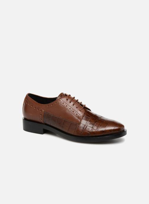 Zapatos con cordones Geox D DONNA BROGUE B D842UB Marrón vista de detalle / par