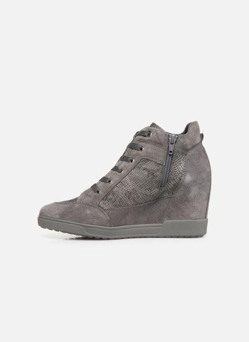 Sneaker Geox D CARUM C D84ASC grau ansicht von vorne