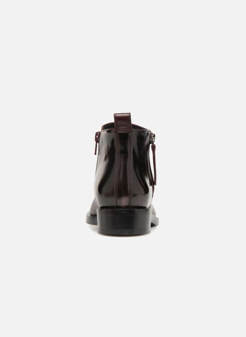 Boots en enkellaarsjes Geox D DONNA BROGUE F D842UF Bordeaux rechts