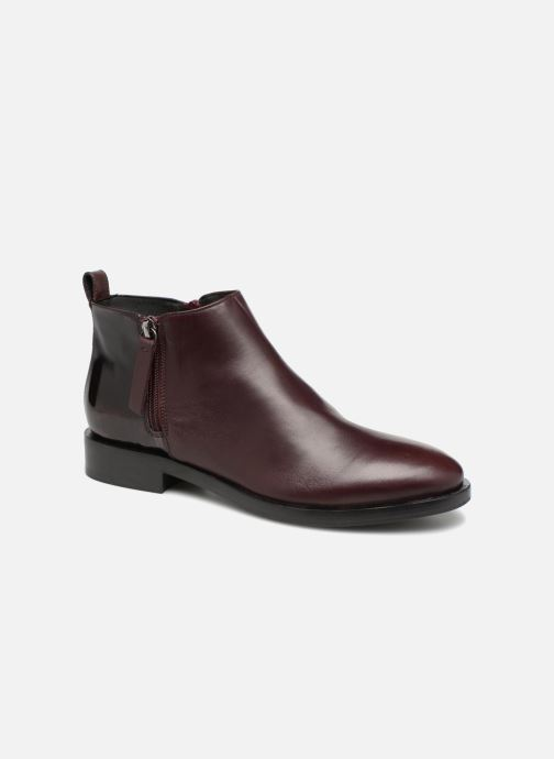 35b6748992eeb Ankle boots Geox D DONNA BROGUE F D842UF Burgundy detailed view  Pair view