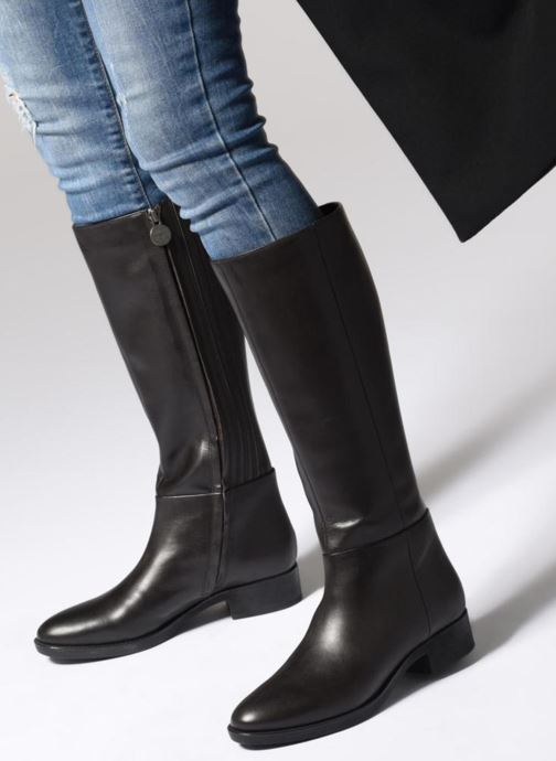 Boots   wellies Geox D FELICITY D D84G1D Brown view from underneath   model  view 3d0fb2e7e95