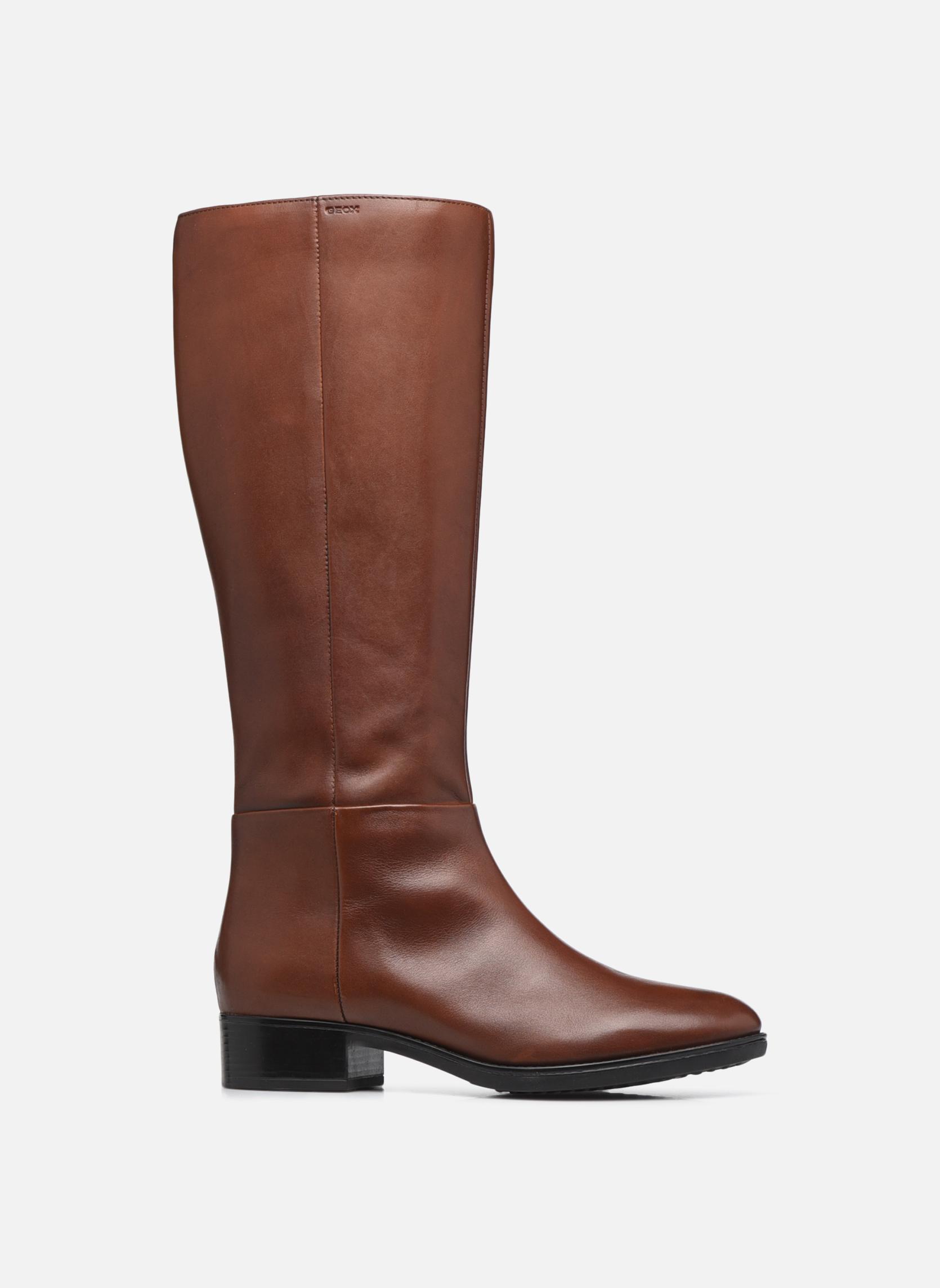 Boots & wellies Geox D  FELICITY D D84G1D Brown back view