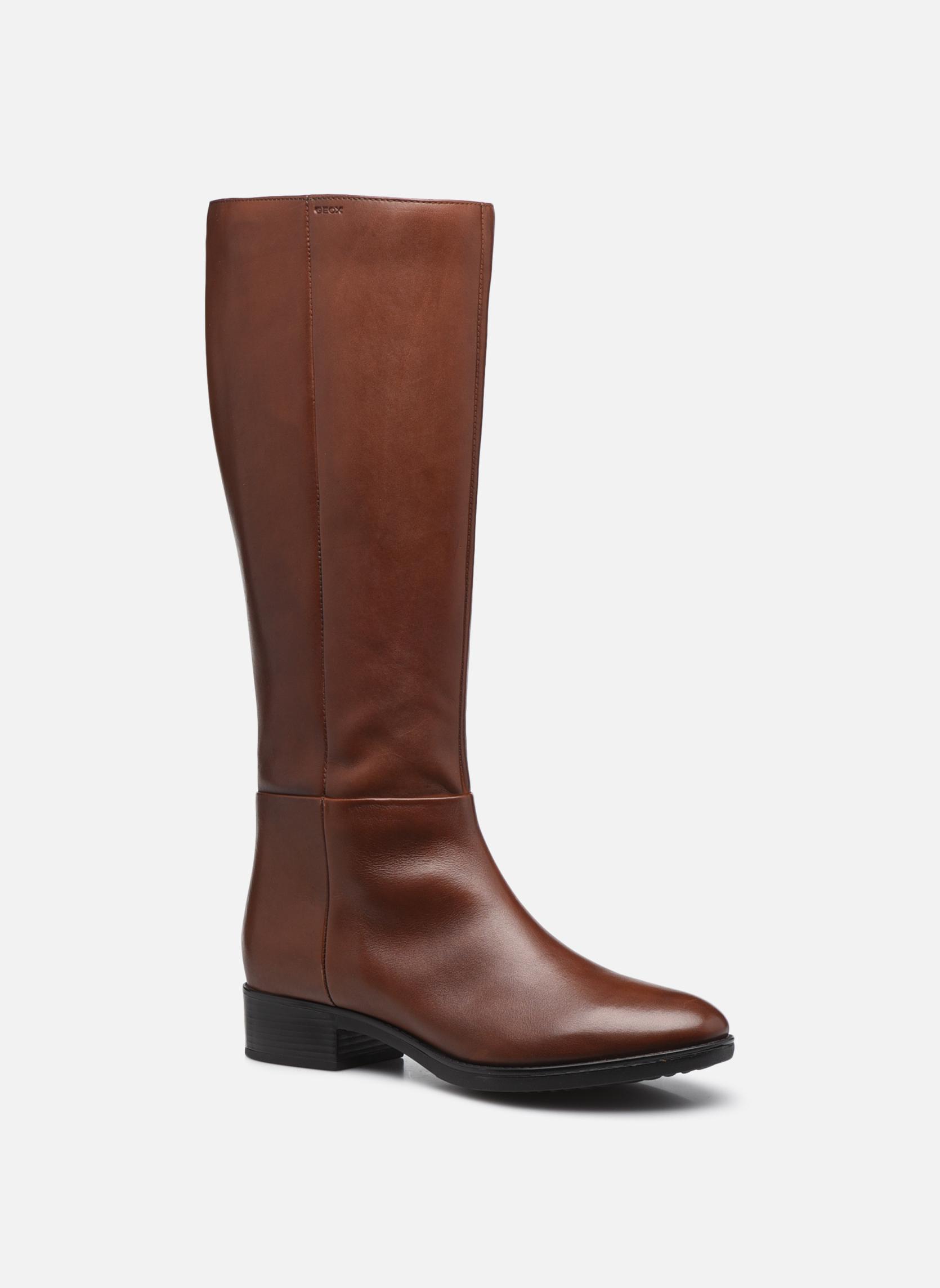 Boots & wellies Geox D  FELICITY D D84G1D Brown detailed view/ Pair view