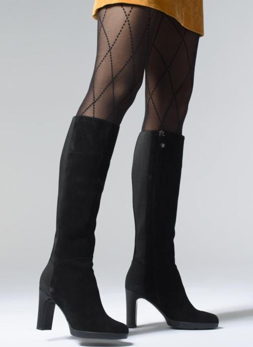 Boots & wellies Geox D ANNYA HIGH G D84AEG Black view from underneath / model view