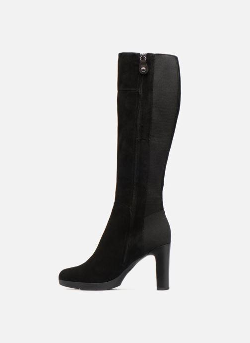 Boots & wellies Geox D ANNYA HIGH G D84AEG Black front view
