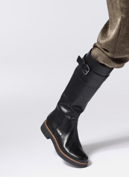 Boots & wellies Geox D ADRYA A D849TA Black view from underneath / model view