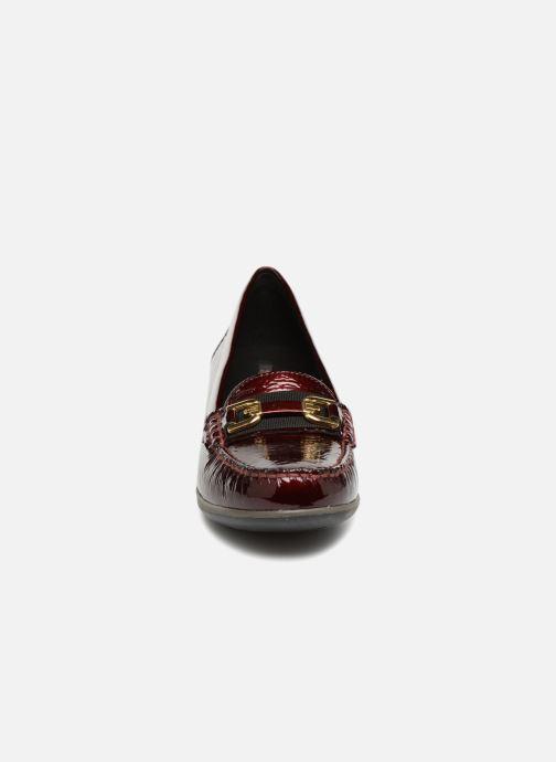 Mocassins Geox D ARETHERA A D841SA Bordeaux vue portées chaussures