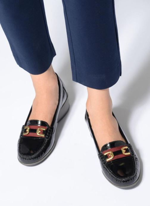 Loafers Geox D ARETHERA A D841SA Black view from underneath / model view